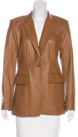DKNY Short Leather Coat
