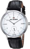 Ben Sherman Men's 'The Dylan Professional' Quartz Stainless Steel and Leather Casual Watch, Color:Black (Model: WBS102WB)