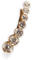 Sophie Bille Brahe Gold/Diamond Petite Croissant de Lune Earring