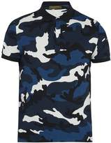 Valentino Camouflage-print cotton-piqué polo shirt