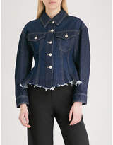 Mo&Co. Peplum denim jacket