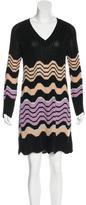 M Missoni Merino Wool-Blend Long Sleeve Dress