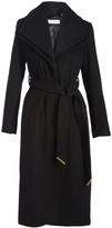 T Tahari Black Alice Wool-Blend Trench Coat