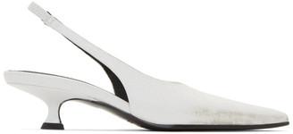 MM6 MAISON MARGIELA White Slingback Heels