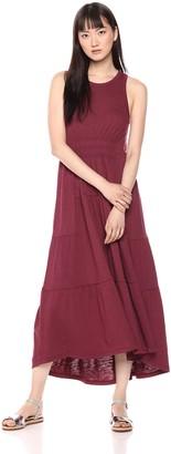 Lucky Brand Women's Long Open Back Smocked Dress