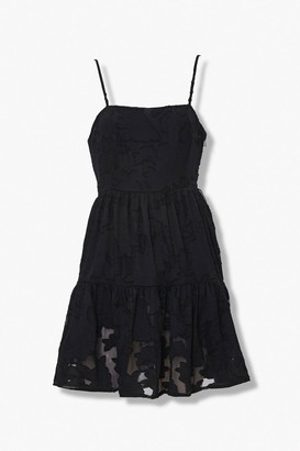 Forever 21 Floral Fit Flare Mini Dress