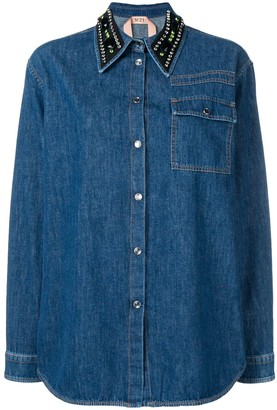 No.21 Embellished Collar Shirt