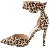 Diane von Furstenberg Suede Leopard Print Pumps