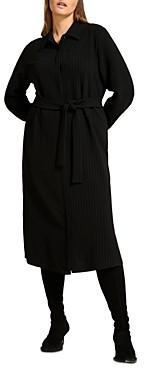Marina Rinaldi Dicembre Pinstriped Shirtdress
