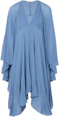 Chloé Ruffled Crinkled-silk Dress