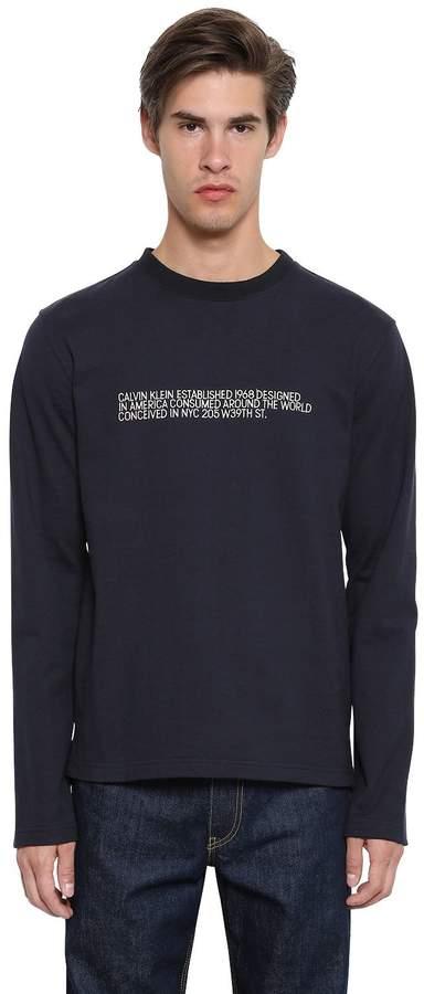 Calvin Klein Embroidered Cotton Jersey Sweatshirt