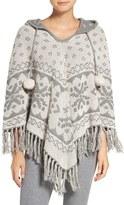 PJ Salvage Women's Reversible Hooded Poncho