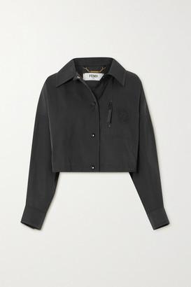 Fendi Cropped Twill Jacket - Black