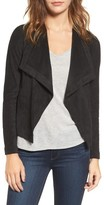 BB Dakota Women's Nanette Faux Suede Drape Front Jacket