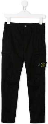 Stone Island Junior boys casual logo trousers
