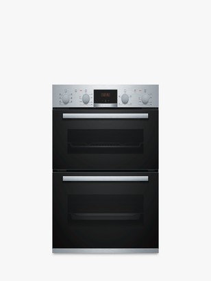Bosch Serie 4 NBS533BS0B Built-Under Double Oven, Stainless Steel