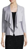 Grayse Pinstriped Open-Front Jacket