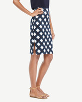 Ann Taylor Petite Graphic Gingham Pencil Skirt