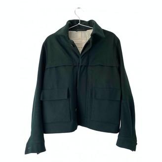 N. \n Green Wool Jacket for Women