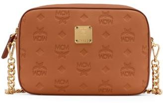 MCM Klara Monogram Leather Camera Bag