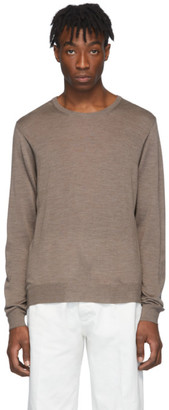 Maison Margiela Brown Wool Sweater