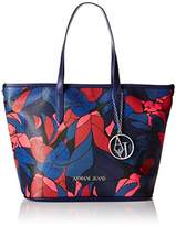 Armani Jeans Camo Printed Medium Eco Leather Tote