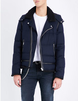 The Kooples Quilted wool-blend jacket
