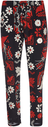 RED Valentino Floral Print Trousers