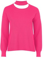 Topshop Choker Crew Neck Knitted Sweater