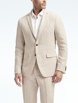Banana Republic Heritage Slim Cream Linen Suit Jacket