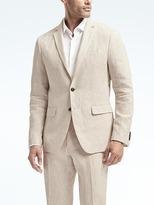 Banana Republic Slim Heritage Cream Linen Suit Jacket
