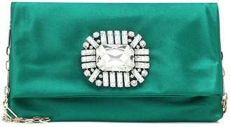 Jimmy Choo Exclusive to Mytheresa a Titania embellished satin clutch
