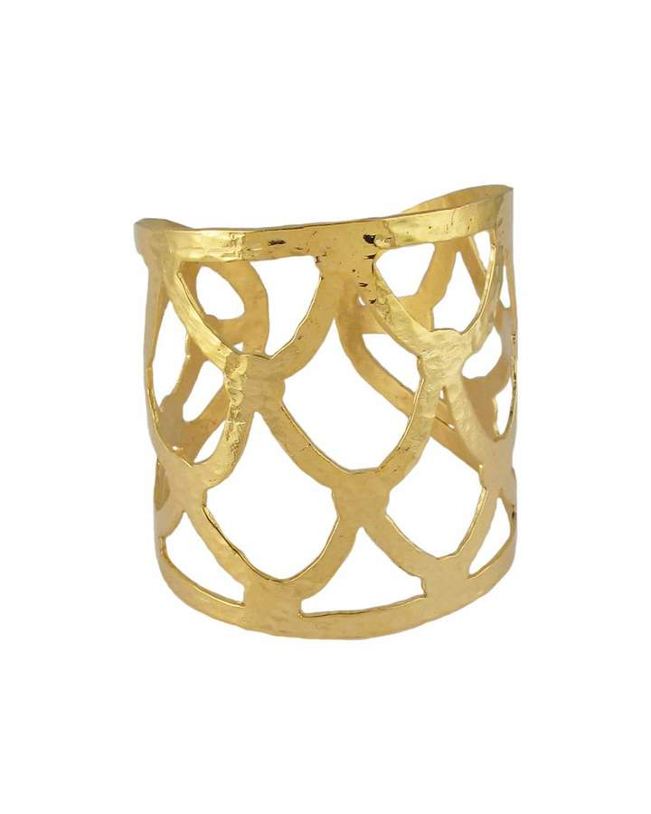 Devon Leigh Textured Golden Cuff Bracelet