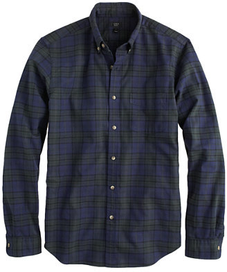 J.Crew Vintage oxford shirt in night shadow plaid
