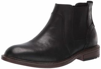 Steve Madden Men's TAMPAL Chelsea Boot Black Leather 8.5 M US
