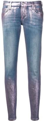 Faith Connexion metallic paint jeans