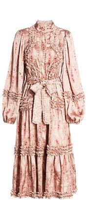 Alexis Rozalya Paisley Ruffle Midi Dress