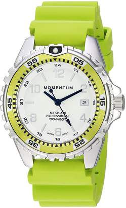 Momentum Women's Stainless Steel Japanese-Quartz Diving Watch with Rubber Strap Green 18 (Model: 1M-DN11LL1L)