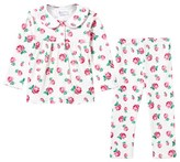 Rachel Riley White Rose Print Pyjamas