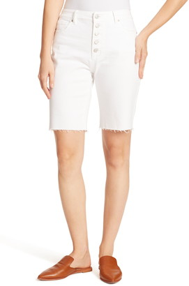 Ella Moss Fray Hem Long Bermuda Shorts