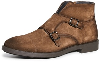 To Boot Basel Suede Double Monk Strap Boots