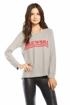 Chaser LA Brewski Long Sleeve Panel Tee in Platinum