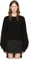 Haider Ackermann Black Cropped Sweater