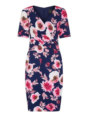 Adrianna Papell Shadow Rose Sheath Dress