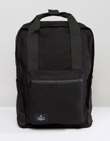 Asos Backpack In Black Canvas With Patch