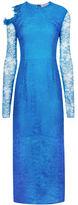 Preen by Thornton Bregazzi Blue Lace Amilna Long Dress