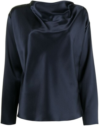Adam Lippes Cowl Neck Charmeuse Blouse