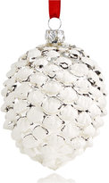 Holiday Lane Silver and White Pinecone Ornament