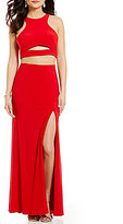 GB Social High Neck Cut-Out Racerback Gown