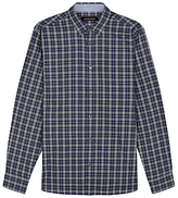 Jaeger Multi Check Regular Fit Shirt, Olive
